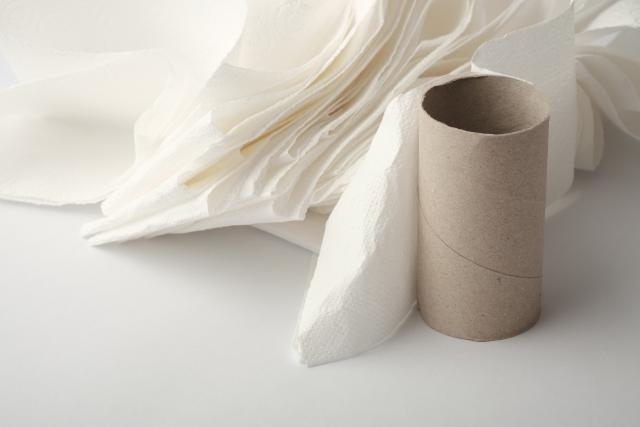 トイレットペーパーを一気に大量に流した